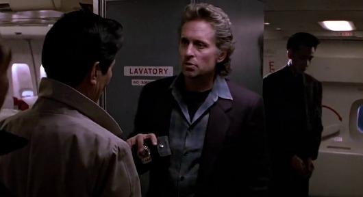 Michael Douglas in Black Rain -              You were looking for us?