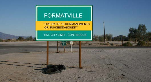 Screenplay format - The 10 commandments of screenplay format