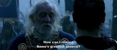 Gladiator - General Maximus and the Emperor Marcus Aurelius
