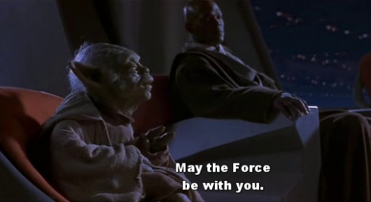 Yoda in Star Wars: Episode II - Attack of the Clones - May the Force be with you