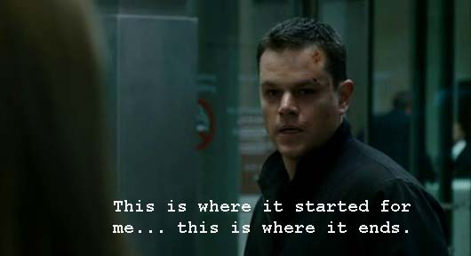 Whatascript! compilation of movie character quotes - Bourne Ultimatum
