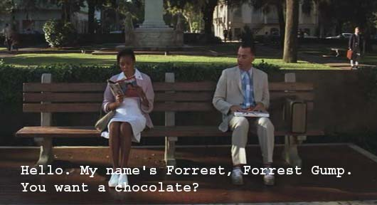 Whatascript! compilation of funny, cool and romantic movie quotes - Forrest Gump