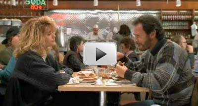 Harry and Sally in the restaurant scene