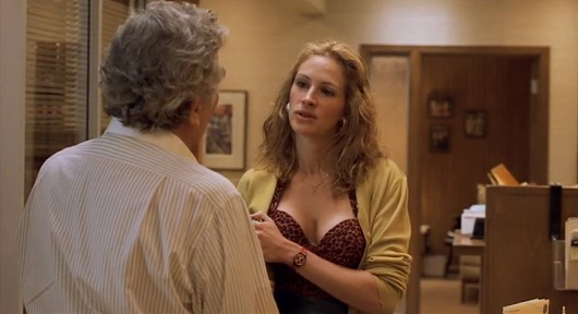 Erin Brockovich character about the juxtaposition dialogue technique