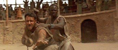 Gladiator fighting other gladiators