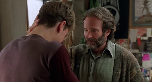 Sean Maguire from the screenplay Good Will Hunting about the repetition movie dialogue technique