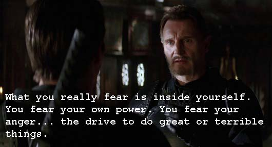 Whatascript! compilation of movie character quotes - Batman Begins