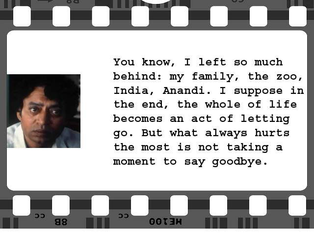 A movie quote funny cool romantic we 39 ve got 100 of for Life of pi character analysis